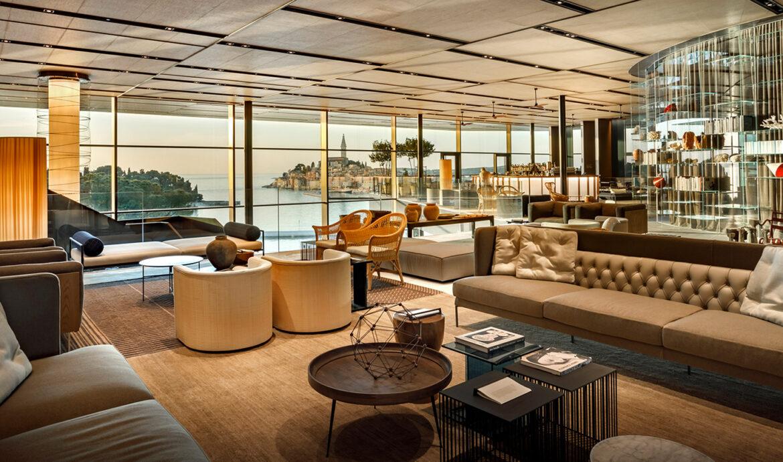 FINESSE, Travel, Magazin, Rovinj, Kroatien, Grand Park Hotel Rovinj, Lounge, Ausblick, Living