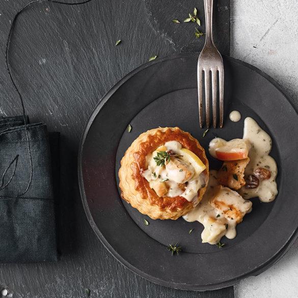 FINESSE, Magazin, Food, Rezepte, Gourmet, Kochen für Freunde, Pastete, Ragout, Geflügel, Apfel