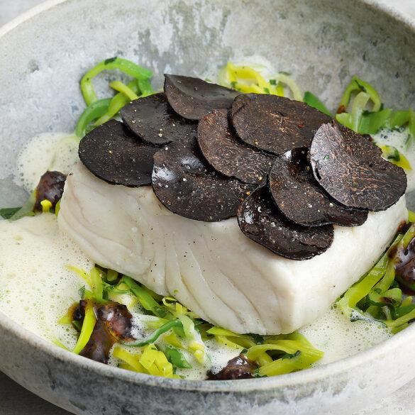 FINESSE, Gourmet, Food, Magazin, Rezepte, Fisch, Trüffel, Steinbutt