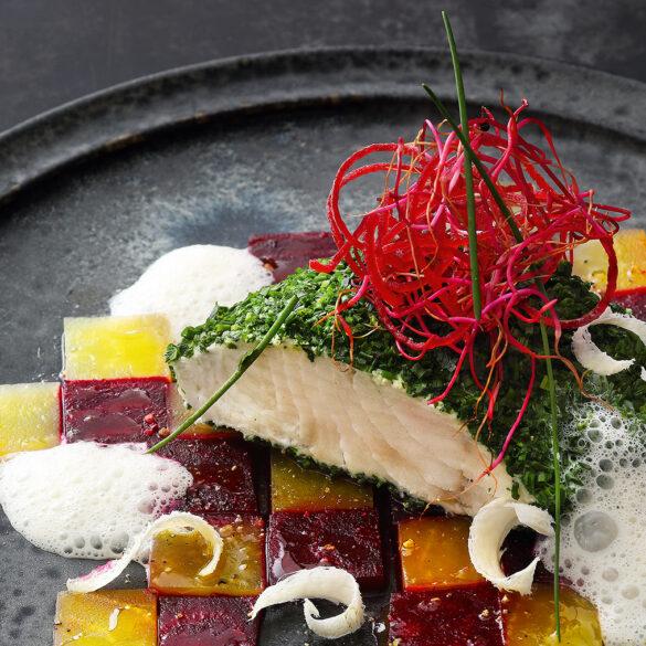FINESSE, Gourmet, Food, Magazin, Rezepte, Fisch, Zander, Kräuter, Rote Bete